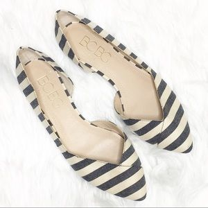 BCBG Paris Annya Striped Flats